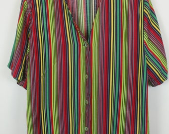 Vintage shirt, 90s clothing, shirt 90s, multicolor, oversized