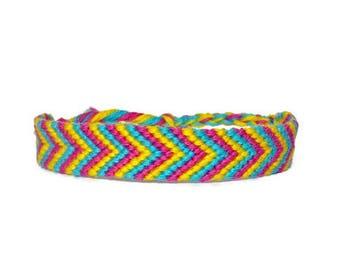 Pan Pride Chevron Friendship Bracelet