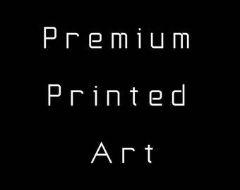 Premium Printed Art, Shipped Art, Enhanced Matte Paper Framed Poster, Premium Luster Photo Paper Framed Poster, Custom Print Order, ShakArts