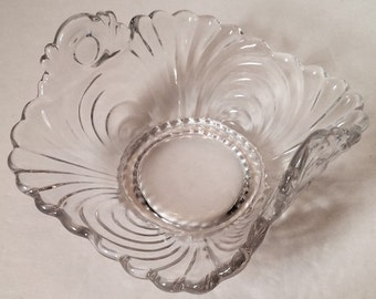 Cambridge Caprice Clear Handled Bon Bon Dish