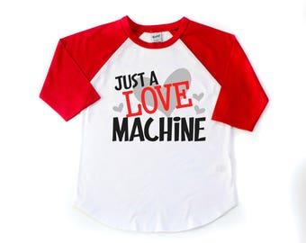 Kids Valentine Shirt - Valentines Day Shirt - Valentine Raglan - Love Machine Shirt - Boys Cupid Shirt - Toddler Valentines Shirt - Love Tee