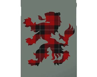 Scottish Rampant Lion Custom Tartan Phone Case Covers For Samsung & iPhone