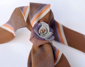 Cappuccino Colour Ladies Necktie, Necklace, Wedding Gift, Women Accessories, Scarf