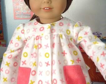 Slumber Party Pajamas, flannel pajamas, tic-tac-toe pajamas. Pink pajamas, winter pajamas, comfy Jammie's, snuggle-up Jammie, fun pajamas