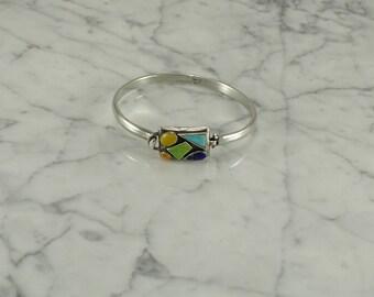 Sterling Silver Mosaic Bracelet