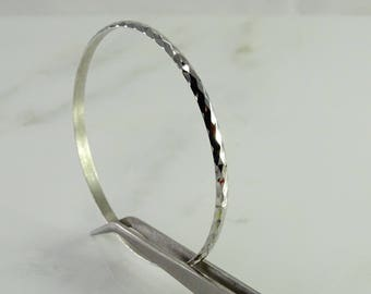 Well's Sterling Bangle Bracelet