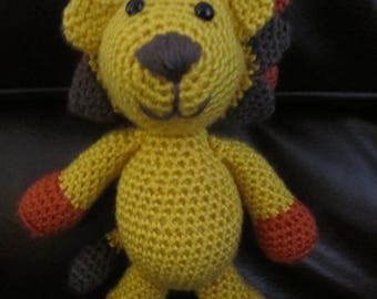 Handcrafted, Crocheted Lion