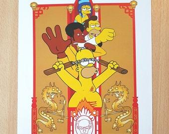 Enter The Drunken Print.  Simpsons Mashup.