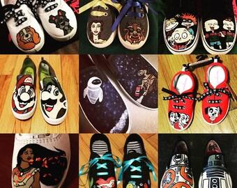 Custom Hand-Painted Cartoon Shoes!