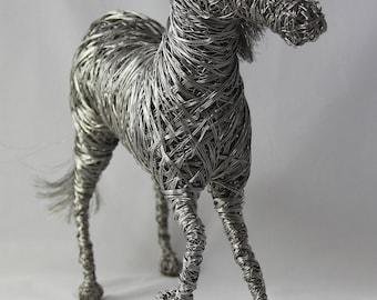 Wire Horse Sculpture / Indoor or outdoor display / High quality steel