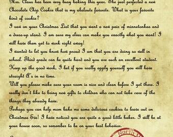 letter from santa etsy