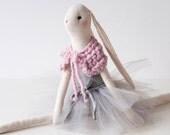 Ballerina Ines Doll, Bunny Doll, Handmade Bunny Doll