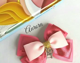 Aurora inspired,Princess, Sleeping Beauty Hair Bow, Baby Headband, Spinning Wheel, Pink,Disney,Party,Uk