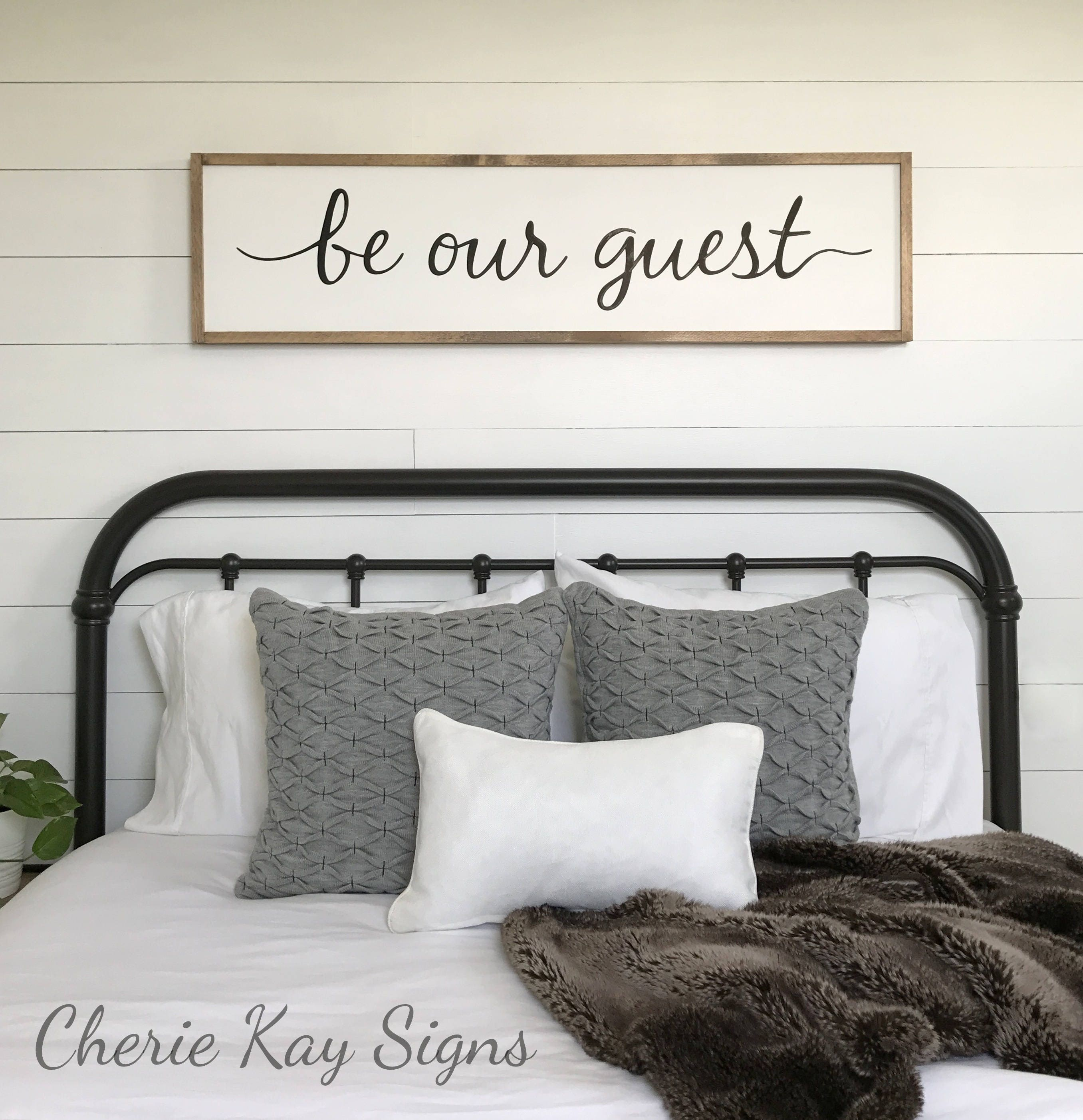 Guest room decor be our guest sign framed sign wood sign description guest room decor amipublicfo Image collections
