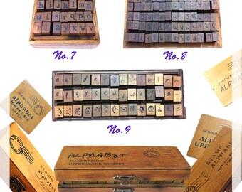 Creative Stamp, Seal, Alphabet, Wood, Retro, Stationery