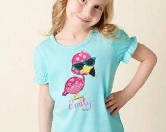 Flamingo Girls Shirt Personalized