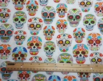 Sugar Skull Fabric - Dia de los Muertos