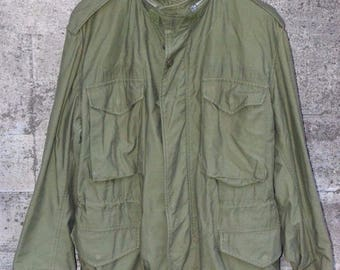 Alpha Industries Camouflage Coat Vintage Military Issue Comobat Jacket Medium