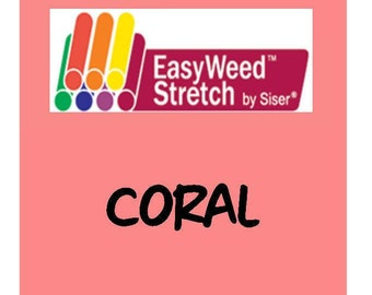 Siser EasyWeed Stretch Heat Transfer Vinyl - HTV - Coral