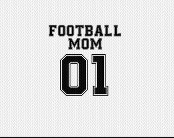 football mom 01 sports svg dxf file instant download silhouette cameo cricut clip art commercial use