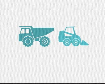 dump trucks kids decal stencil svg dxf file instant download silhouette cameo cricut clip art commercial use