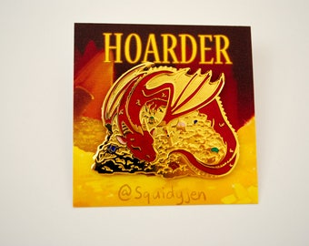 Hoarder Dragon Enamel Pin
