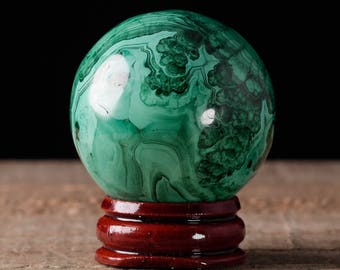 40mm MALACHITE Sphere - Malachite Crystal, Malachite Stone, Polished Malachite, Green Crystal Ball, Crystal Sphere, Malachite Ball 36746