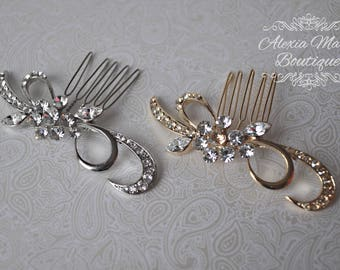Delicate Swirl Flower Bridal Hair Comb