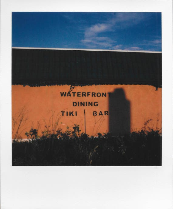 Waterfront Dining / Vintage Style Original Polaroid by Dan Bell