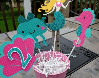 Mermaid Centerpiece, Under The Sea Centerpiece, Mermaid Birthday Decor, Baby Shower, Mermaid Birthday Party