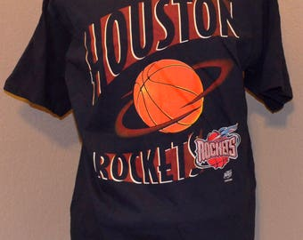 Houston Rockets Logo 7 1990's Deadstock T-Shirt NwoT XL X-Large 100% Cotton