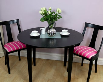 Black Painted Metro Chairs / Black Dining Chairs / Dining Room Chairs