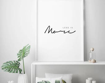 Less Is More Minimalist Poster Print Architect