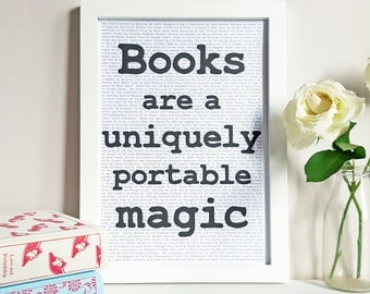 Stephen King Book Quote - Bookworm Gift - Reading Nook Wall Art - Book Lover Print - Home Library Decor - Literary Quote - Bookshelf Art