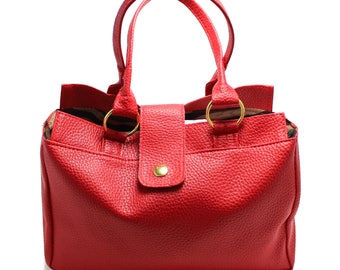 Vintage Red Leather Snap Purse