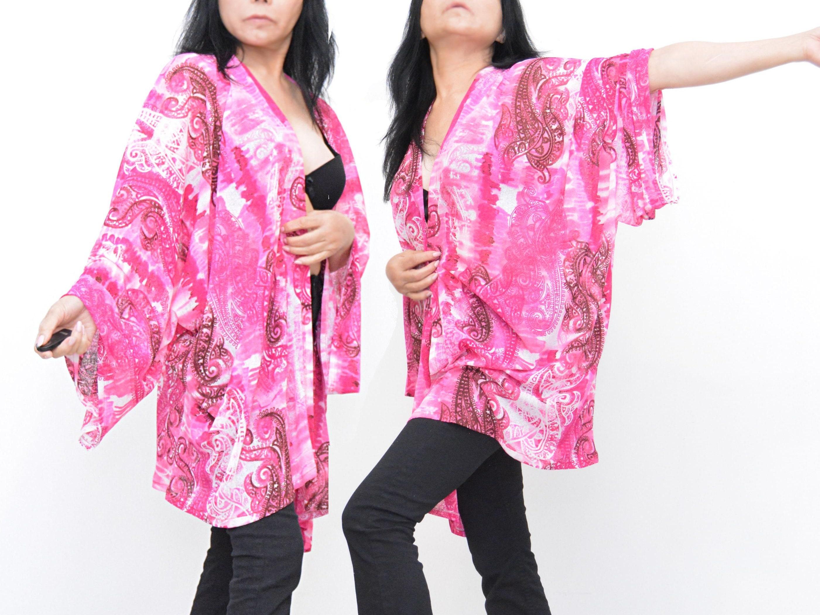 Tie dye kimono pink robe pink kimono pink cardigan tie dye