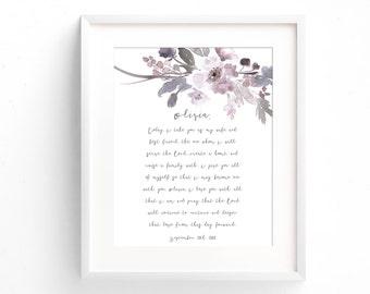 Wedding Anniversary Gift - Wedding Vow Print - Wedding Vow Art - Vow Keepsake - First Anniversary Gift - Paper Anniversary Gift