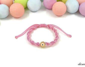 Evil eye baby bracelet, baby protection bracelet, infant bracelet, toddler bracelet, pink baby bracelet, newborn bracelet, new baby bracelet