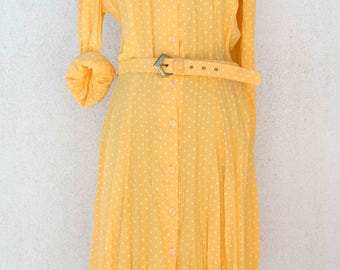 50 years-his fifties Dress Shirt-Vintage clothing Vintage 50s polka dot dress-clothing-Women-polka dot dress