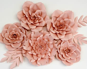 Set of Paper Flowers