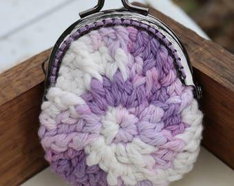 Purple/White Coin Purse
