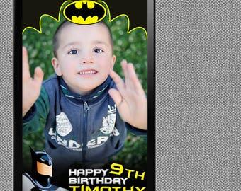 Batman Snapchat Geofilter ~ Batman Birthday Party Geofilter ~ Batman Birthday Theme ~ Batman Snap Filter ~ Batman Geo Filter ~ Snapchat