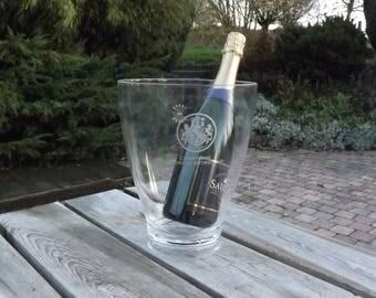 Barons Rothschild. Seau champagne. Refroidisseur bouteille. Vintage. France
