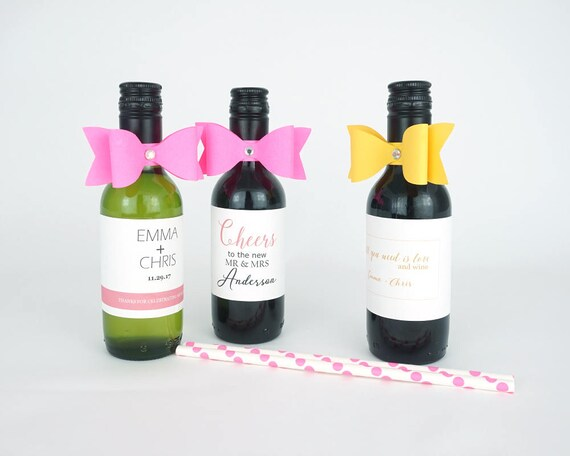 10 Paper bows with rhinestone mini wine paper ribbon mini