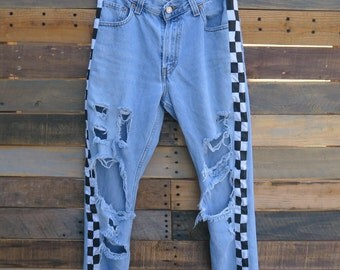 0479 - American Vintage - Street Styled - Checkered Pants