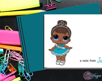 LOL Surprise miss baby Notes / Girl Stationery /LOL Girl Stationery Set / Set of 12