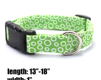 Medium Green Bubbles Collar