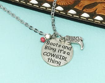 Western Necklace, Cowgirl Necklace, Western Jewelry, Cowgirl Jewelry
