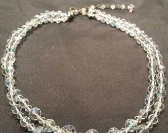 Aurora Borealis Crystal Bead Necklace