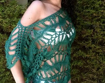 Hairpin lace crochet pattern. Tahiti Top. Instant download.